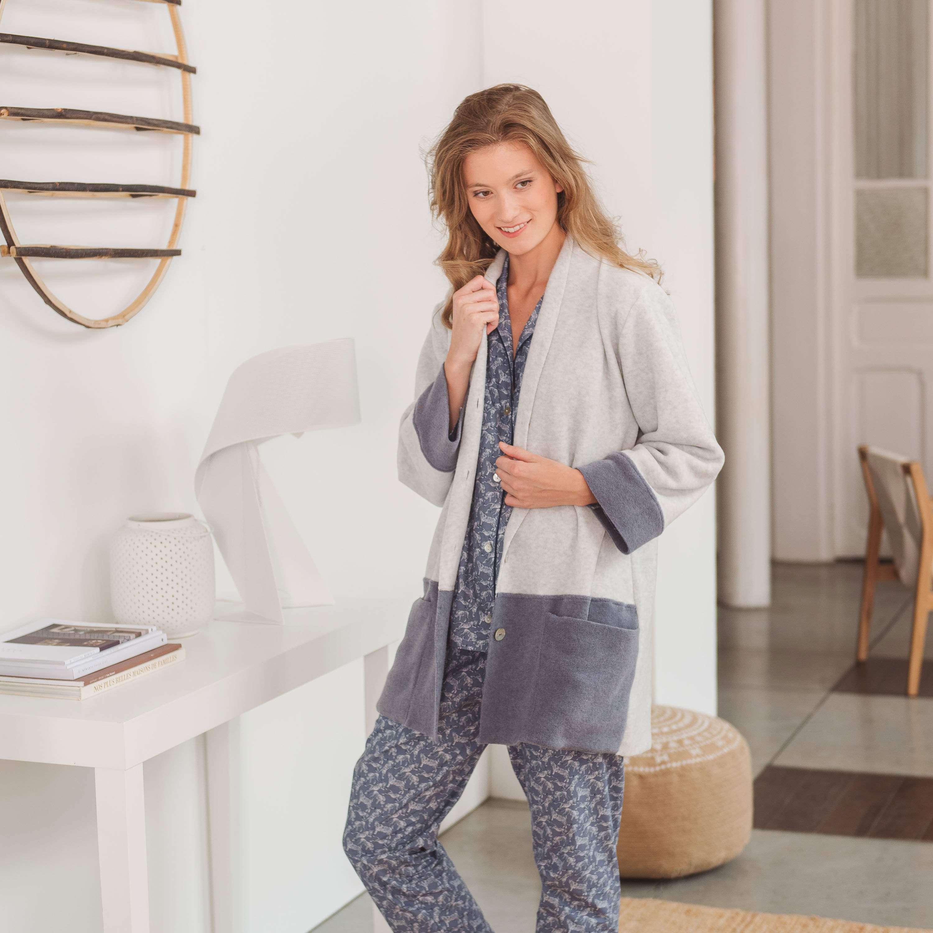 c92227bc87ca9 cardigan Laure gris-bleu Mix and Match · Blanc Cerise